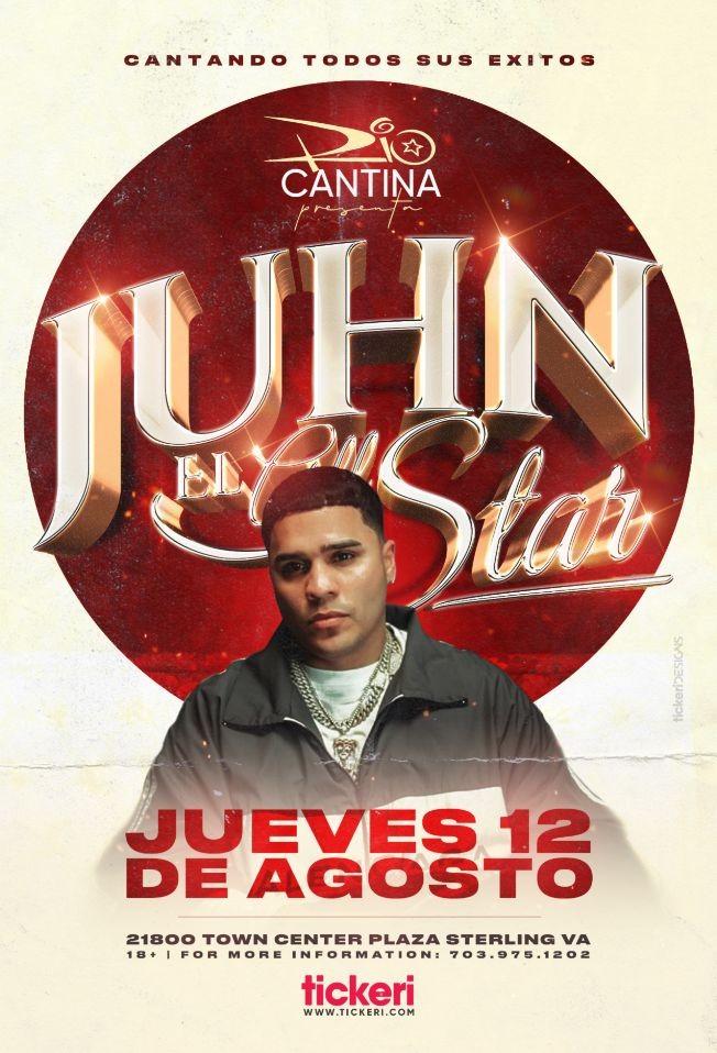 Flyer for JUHN EL ALL STAR EN CONCIERTO ! STERLING VIRGINIA