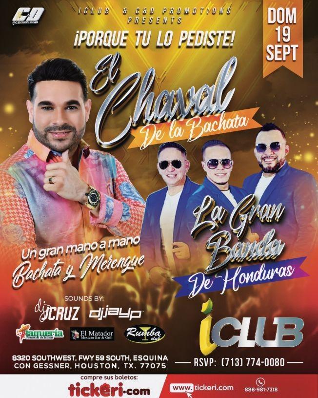 Flyer for EL CHAVAL DE LA BACHATA - LA GRAN BANDA - HOUSTON