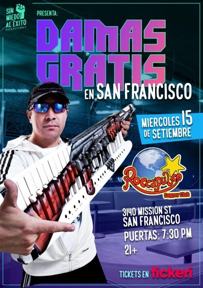 Flyer for DAMAS GRATIS en San Francisco