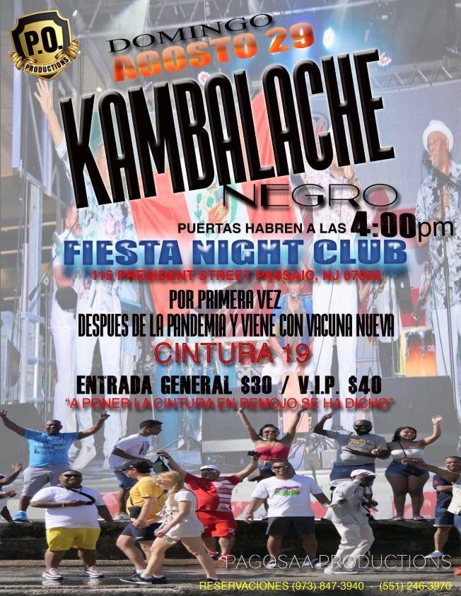 Flyer for KAMBALACHE NEGRO