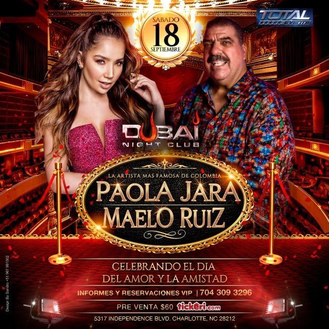 Flyer for Paola Jara y Maelo Ruiz