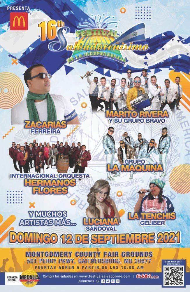 Flyer for McDonald's presenta: 16th FESTIVAL SALVADOREÑISIMO