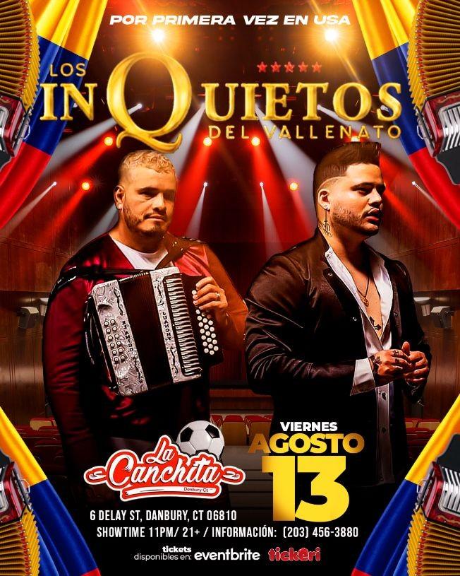 Flyer for LOS INQUIETOS DEL VALLENATO CT