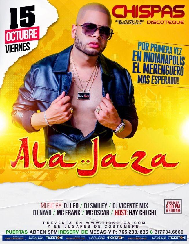 Flyer for ALA JAZA EN CONCIERTO ! INDIANAPOLIS INDIANA