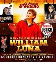 Flyer for WILLIAM LUNA EN VIVO