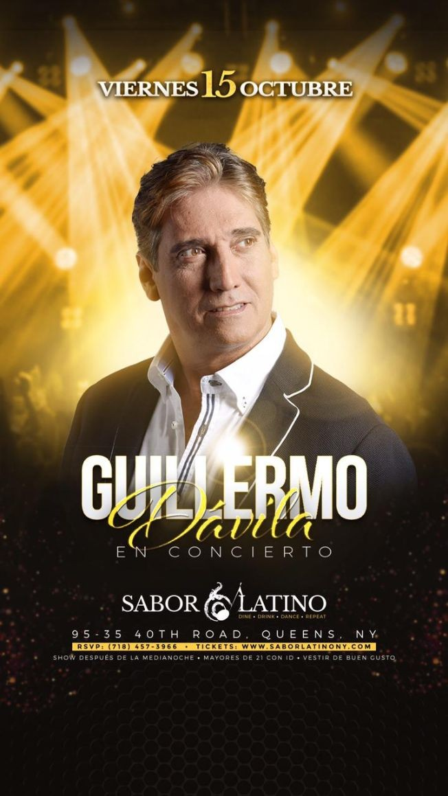 Flyer for Guillermo Dávila