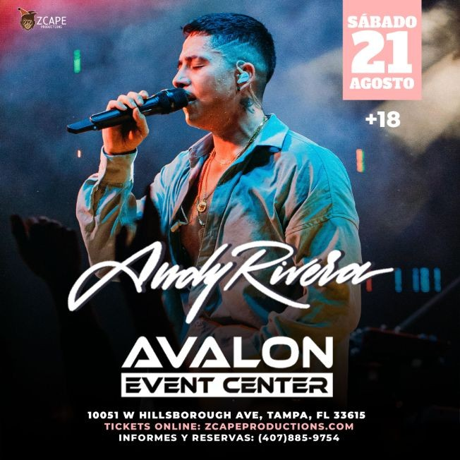 Flyer for ANDY RIVERA EN TAMPA