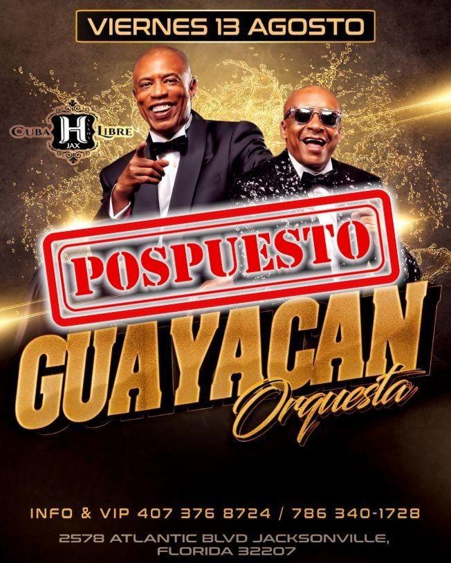 Flyer for GUAYACAN EN CONCIERTO JACKSONVILLE -----POSPUESTO----