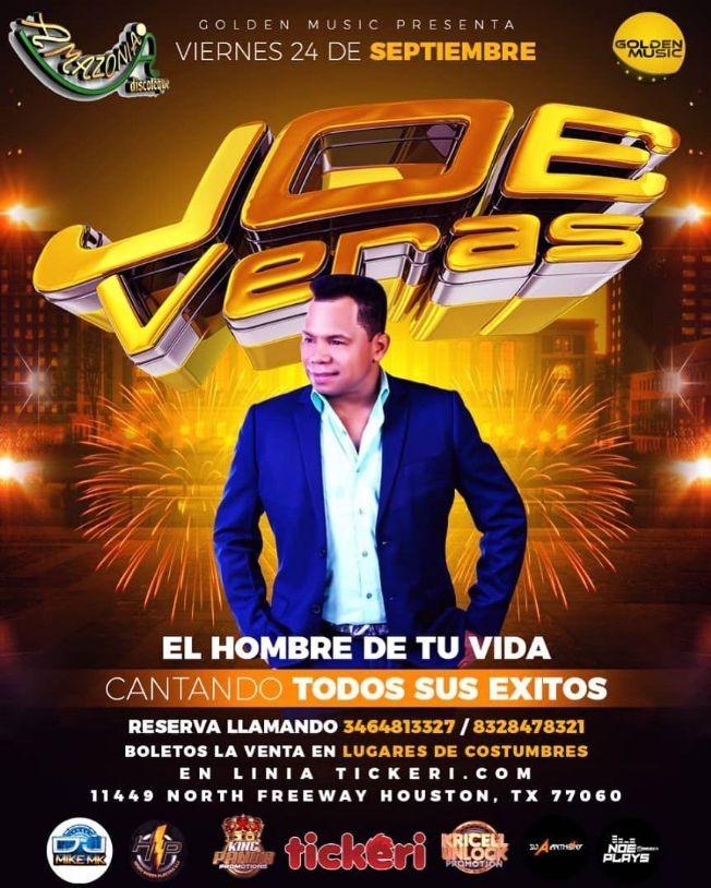 Flyer for JOE VERAS EN VIVO ! HOUSTON TEXAS