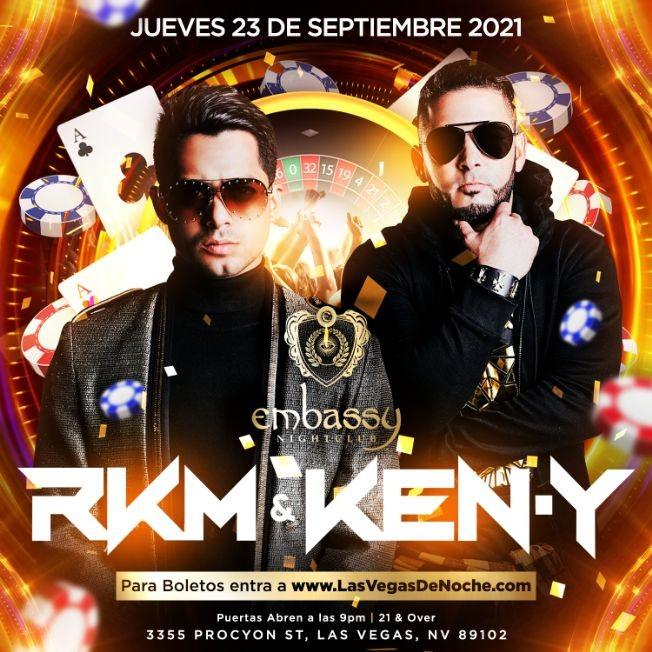 Flyer for RKM y KEN-Y en Embassy Las Vegas!