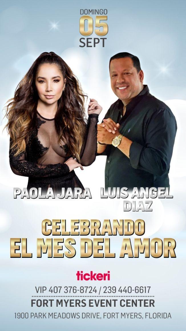 Flyer for PAOLA JARA & LUIS ANGEL DIAZ EN FORT MYERS