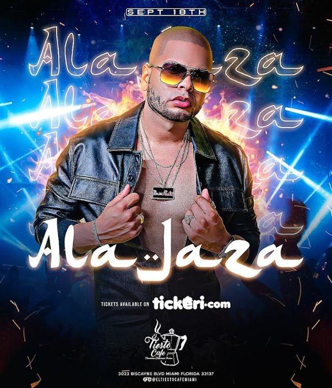 Flyer for Ala jaza En Vivo Miami