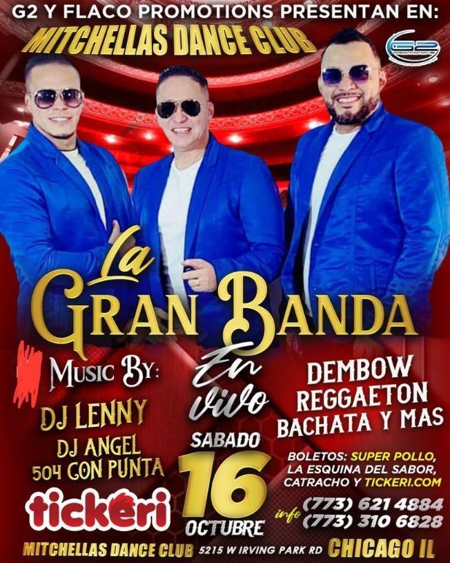 Flyer for LA GRAN BANDA  - CHICAGO  ILLINOIS