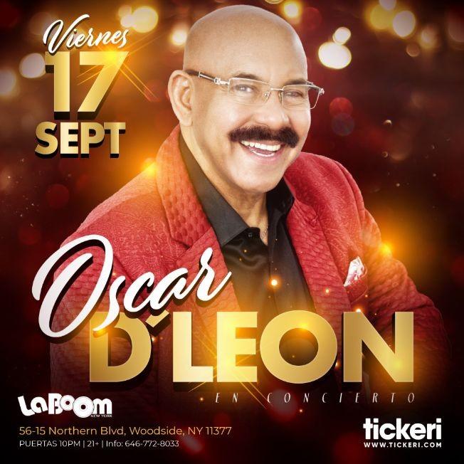 Flyer for OSCAR D' LEON EN NEW YORK