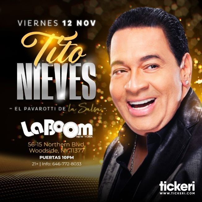 Flyer for TITO NIEVES EN NEW YORK