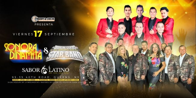 Flyer for Star Band & Sonora Dinamita