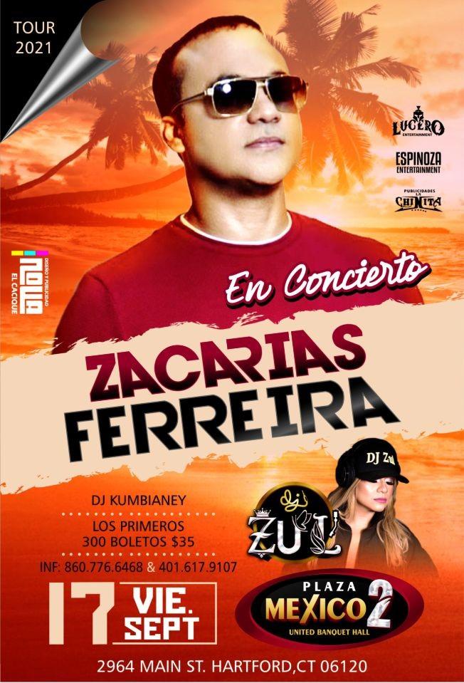 Flyer for Zacarias Ferreira en Hartford, CT