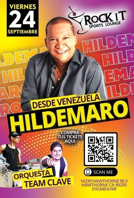 Flyer for Hildemaro El Sonero del Amor en Vivo!