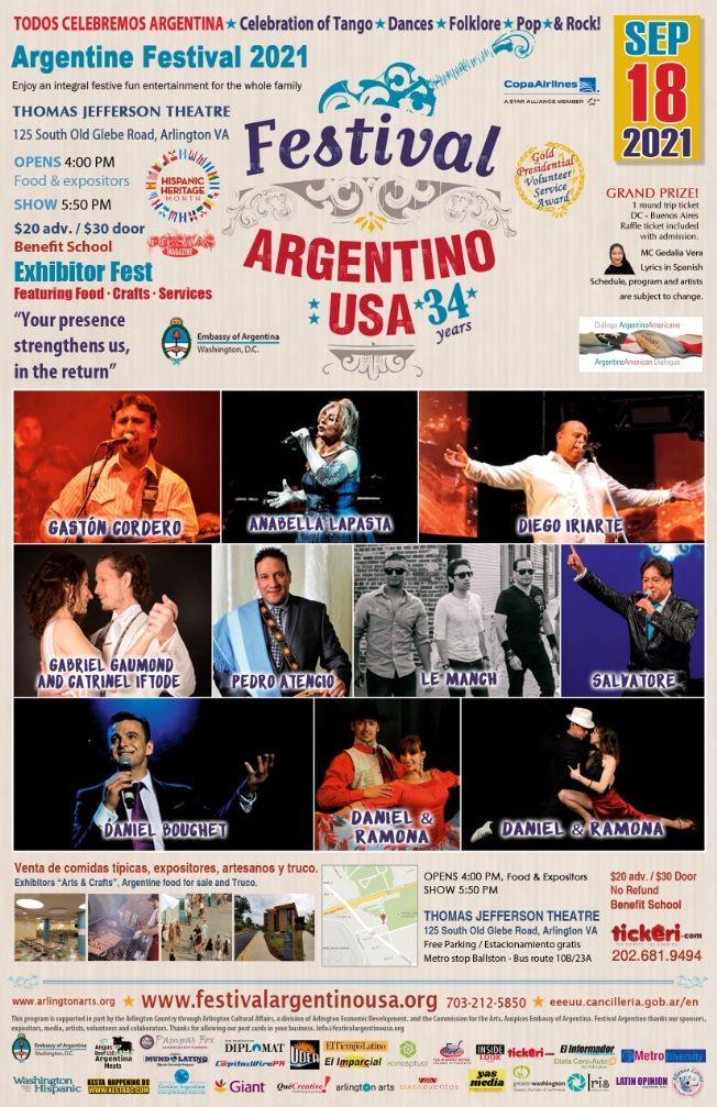 Flyer for FESTIVAL ARGENTINO 2021