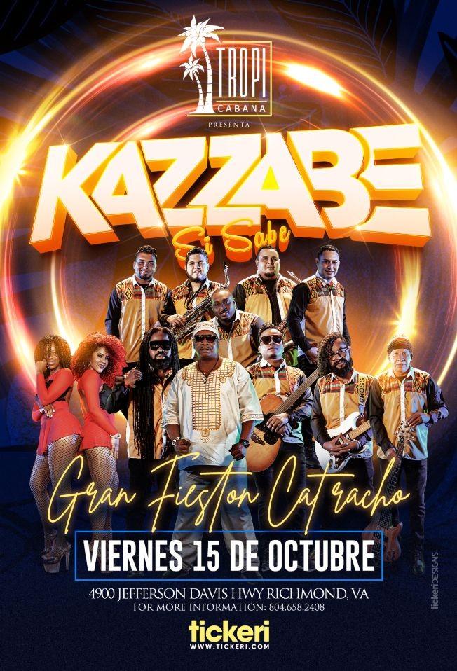 Flyer for KAZZABE SI SABE, GRAN FIESTON  CATRACHO EN VIVO ! RICHMOND VIRGINIA