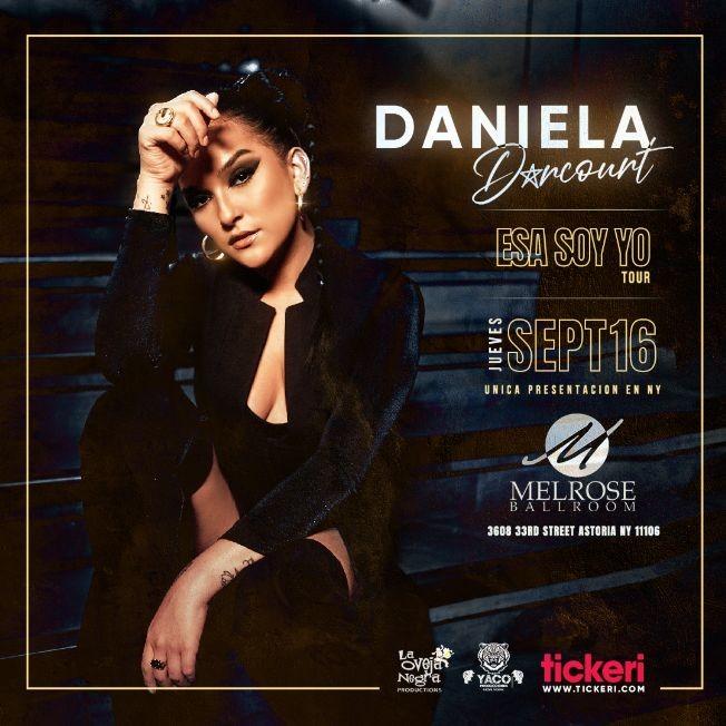 Flyer for Daniela Darcourt en New York // Unica Presentacion