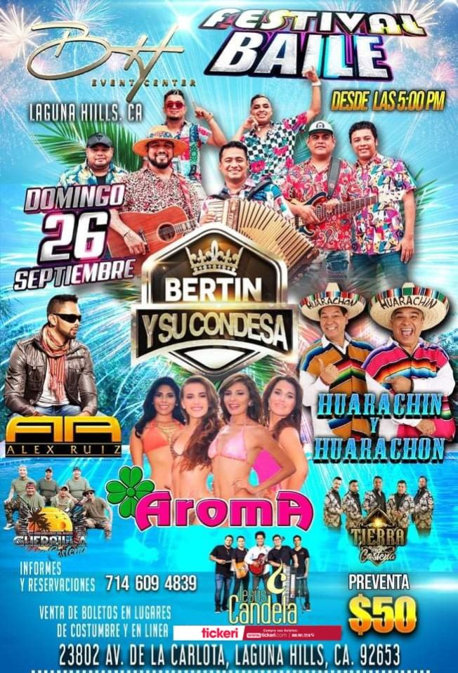 Flyer for Festival Baile con Bertin y Su Condesa y muchos mas en Vivo!