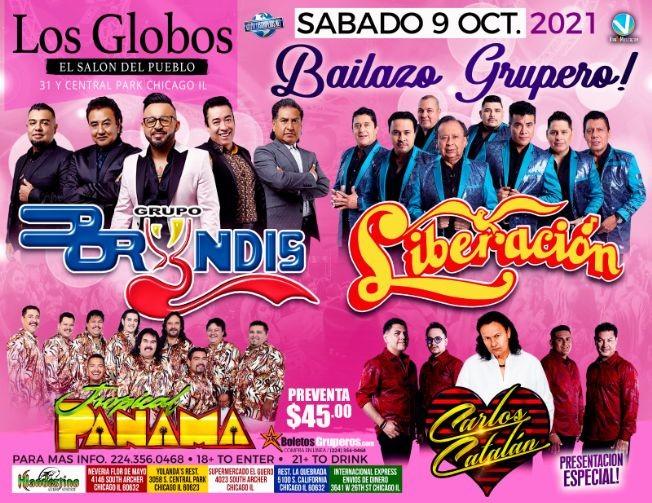 Flyer for GRUPO LIBERACION  GRUPO BRYNDIS  TROPICAL PANAMA CARLOS CATALAN