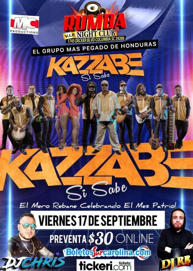 Flyer for El Grupo mas pegado de Honduras: Kazzabe Si Sabe en Vivo!