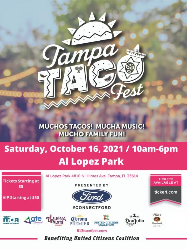 Flyer for Tampa Taco Fest 2021