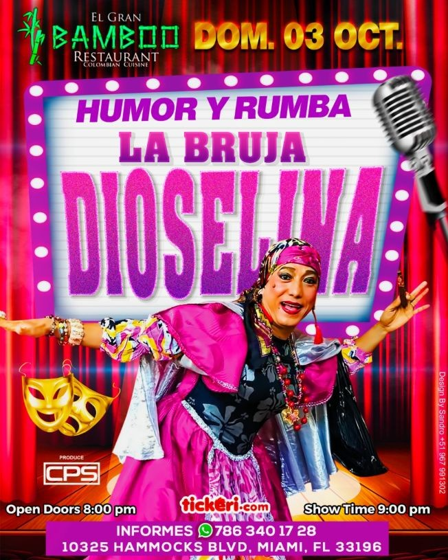 Flyer for LA BRUJA DIOSELINA EN MIAMI