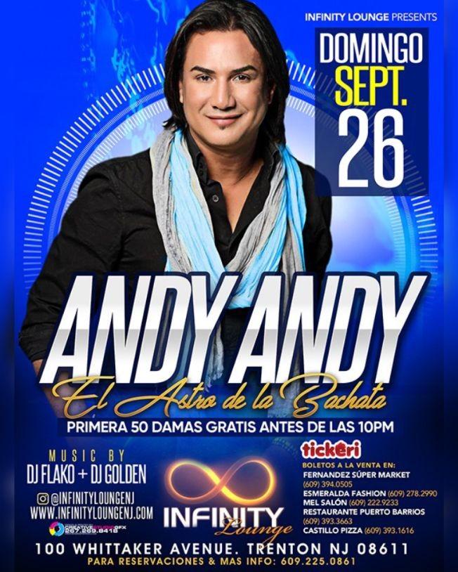 Flyer for ANDY ANDY 🔥 CONCIERTO BAILABLE EN TRENTON, NJ