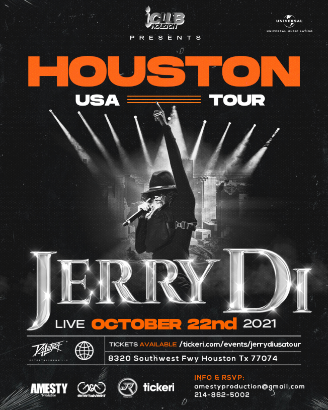 Flyer for Jerry Di USA TOUR