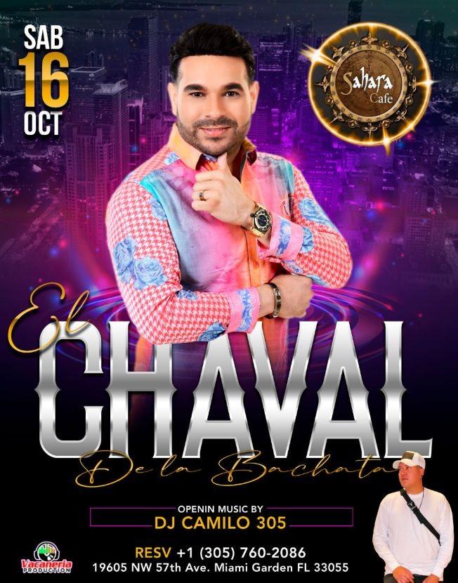 Flyer for EL CHAVAL DE LA BACHATA EN CONCIERTO ! MIAMI GARDEN  FLORIDA