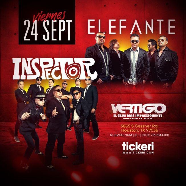 Flyer for ELEFANTE E INSPECTOR EN HOUSTON
