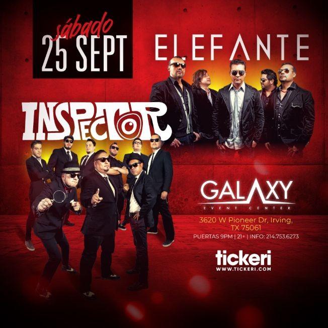 Flyer for ELEFANTE E INSPECTOR EN DALLAS