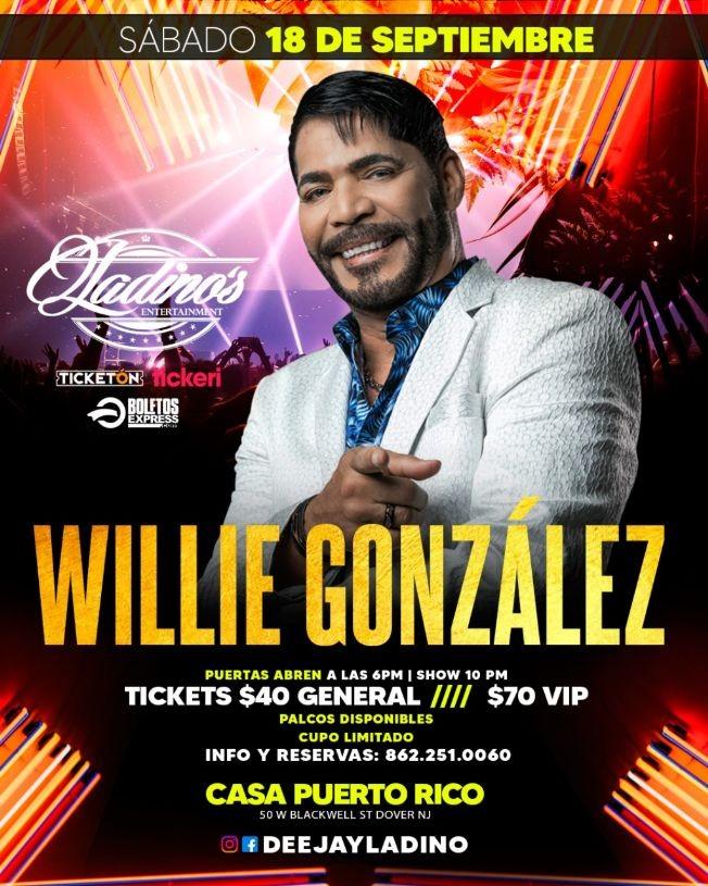 Flyer for WILLIE GONZALEZ