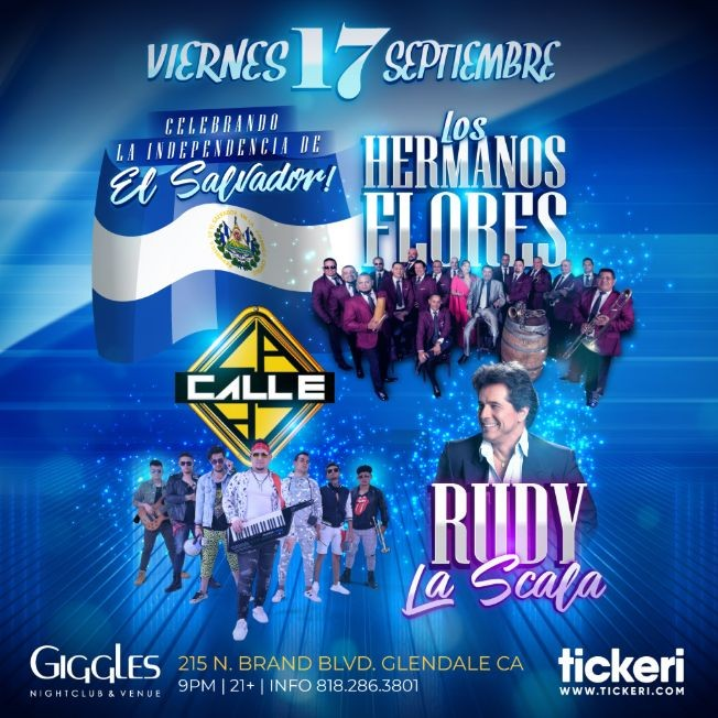 Flyer for LOS HERMANOS FLORES Y RUDY LA SCALA EN LOS ANGELES