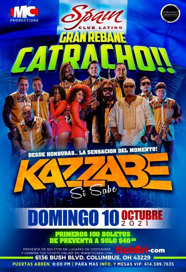 Flyer for Grupo Kazzabe en Concierto- Columbus,Ohio