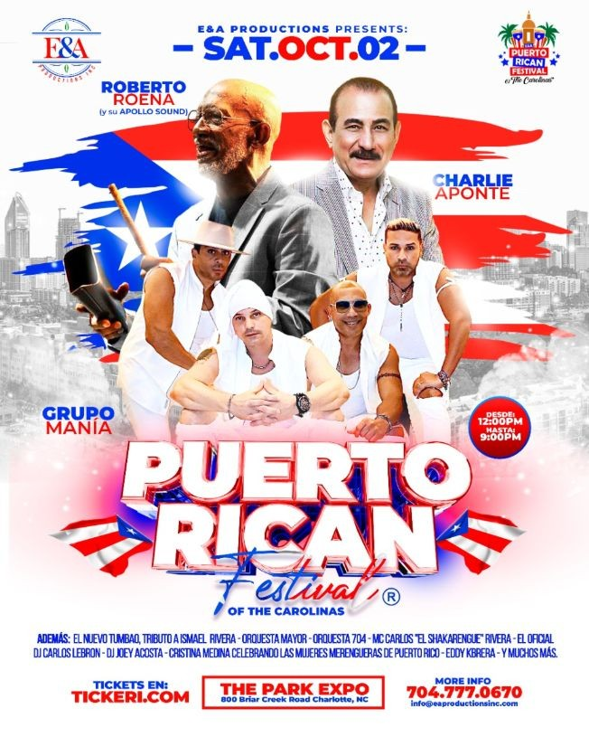 Flyer for Puerto Rican Festival of the Carolinas®
