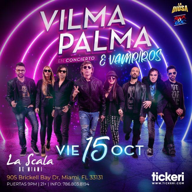Flyer for VILMA PALMA E VAMPIROS EN MIAMI