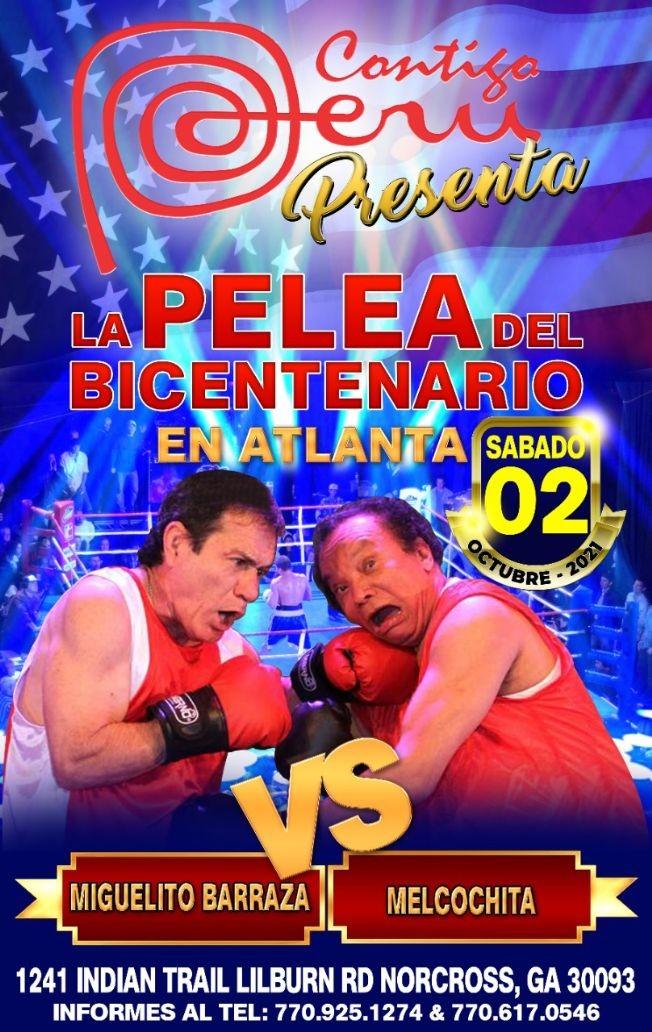 Flyer for MELCOCHITA VS CHATO BARRAZA