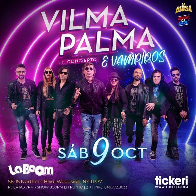 Flyer for VILMA PALMA E VAMPIROS EN NEW YORK