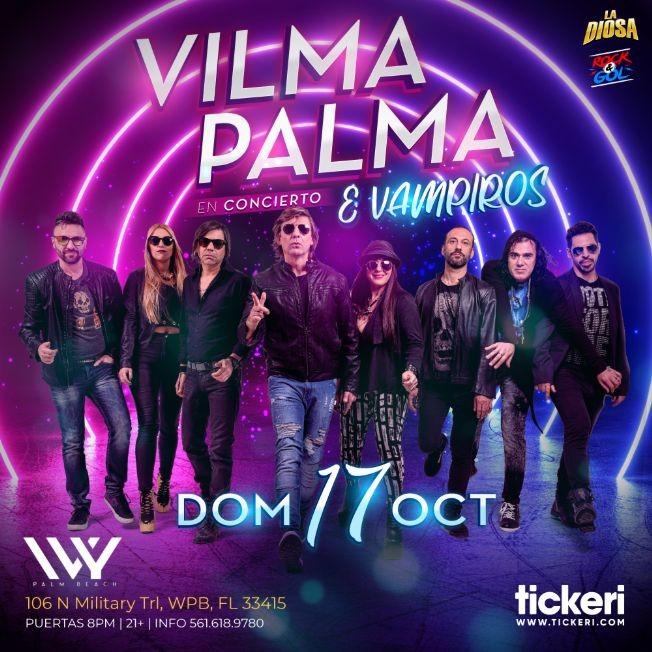 Flyer for VILMA PALMA E VAMPIROS EN WEST PALM BEACH