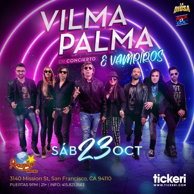 Flyer for VILMA PALMA E VAMPIROS EN SAN FRANCISCO