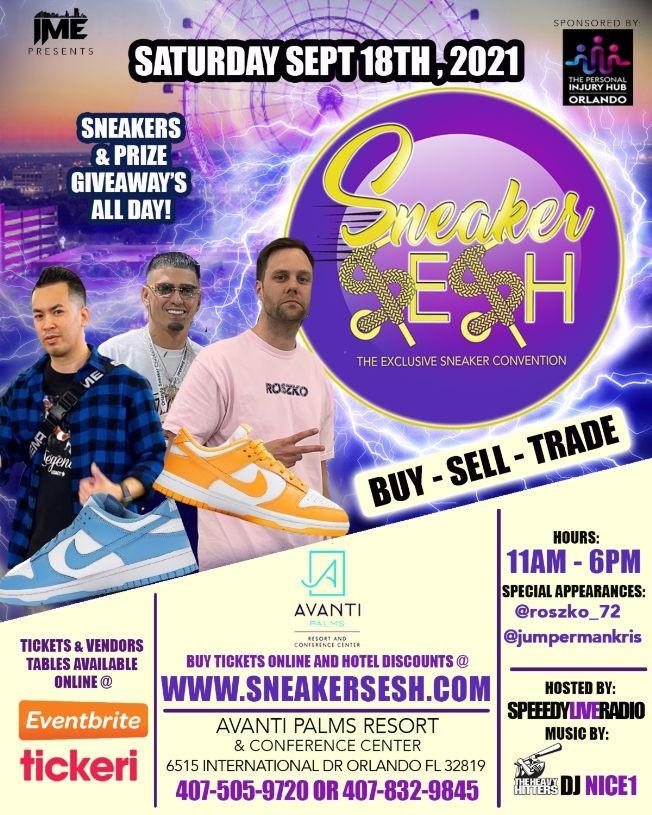 Flyer for Sneaker Sesh Orlando
