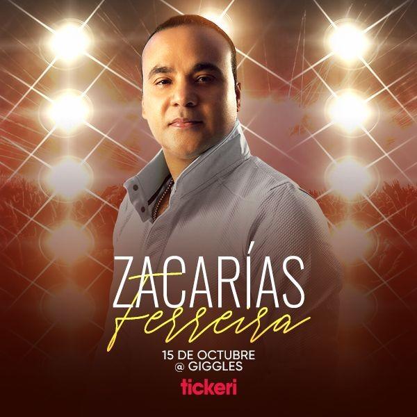 Flyer for ZACARIAS FERREIRA EN LOS ANGELES