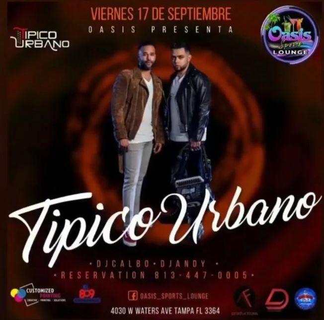 Flyer for Típico urbano en vivo