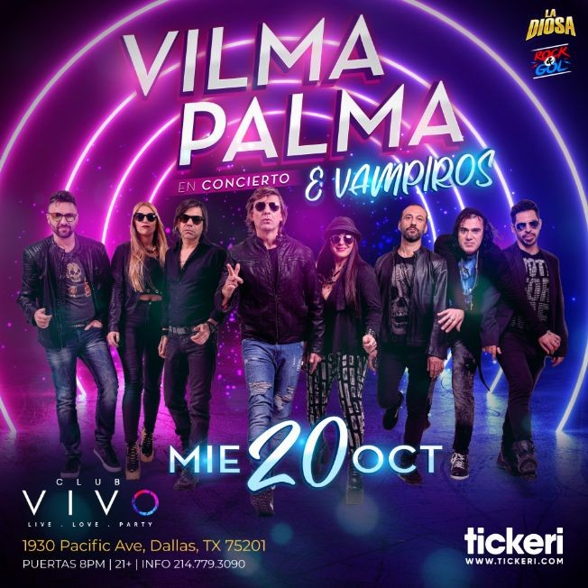 Flyer for VILMA PALMA E VAMPIROS EN DALLAS