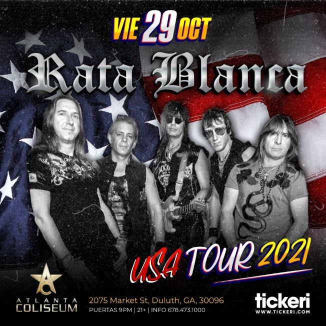 Flyer for RATA BLANCA EN ATLANTA