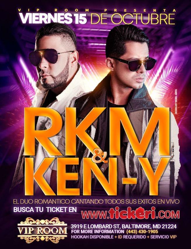 Flyer for RKM & KEN-Y EN CONCIERTO ! (MT) BALTIMORE MARYLAND